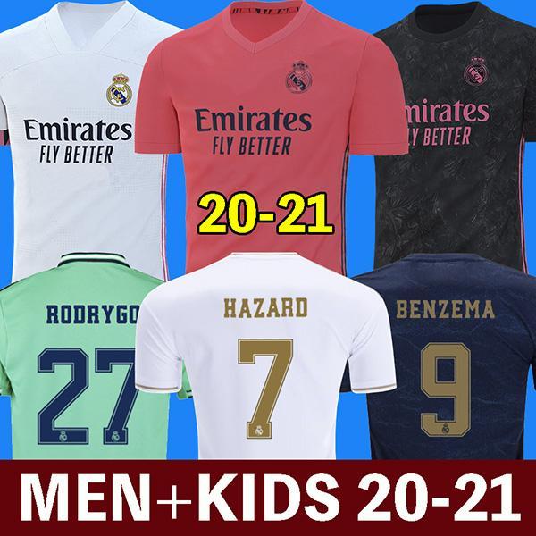 soccer jerseys real Madrid 20 21 HAZARD JOVIC BENZEMA camiseta de futbol 2020 2021 VINICIUS RODRYGO MODRIC football shirt