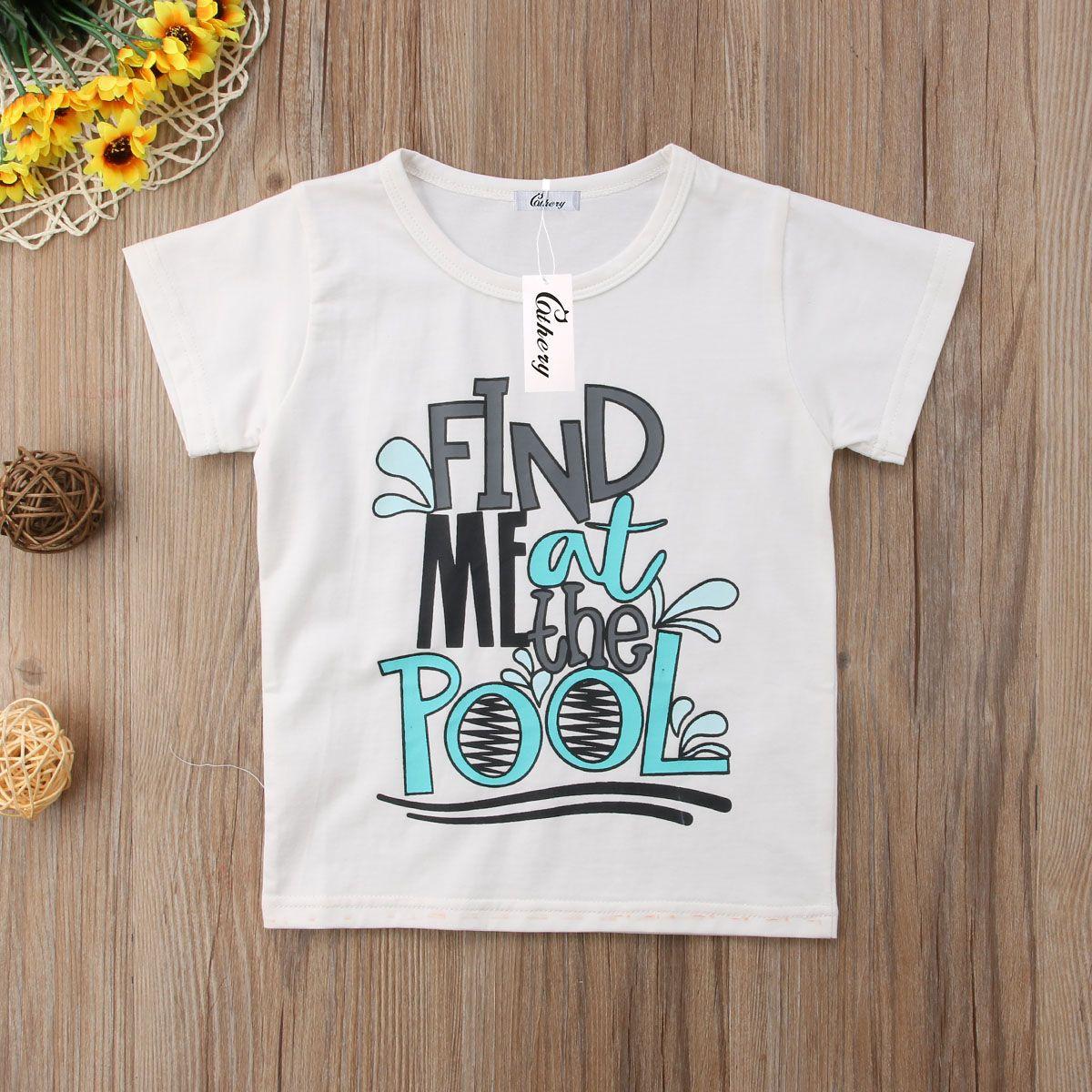 2019 малыш ребенок дети мальчик девочки лето личность печать мягкий футболка найди мне коротким рукавом блузка топы футболки тройник