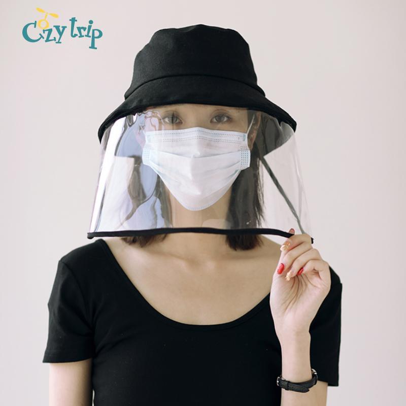 Anti Vaporiser de protection Chapeau avec visière anti Saliva pêcheur plein visage Visor Chapeau Anti-Cracher Voyage Sun