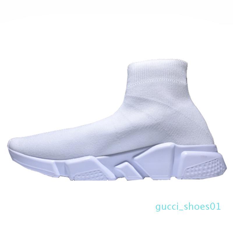 2020 Дизайнер кроссовки Speed Trainer Runner Black Red Top Качество тройной черный Мода плоские носки сапоги Повседневная обувь Размер 36-48 gg01
