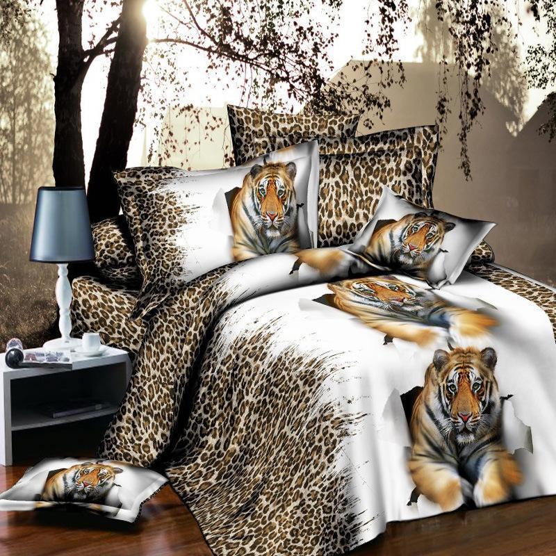 4pcs 침대 세트 이불 커버 침대 시트 Pillowcases 3D 효과 누비 이불 커버 장착 시트 베개 케이스 고품질