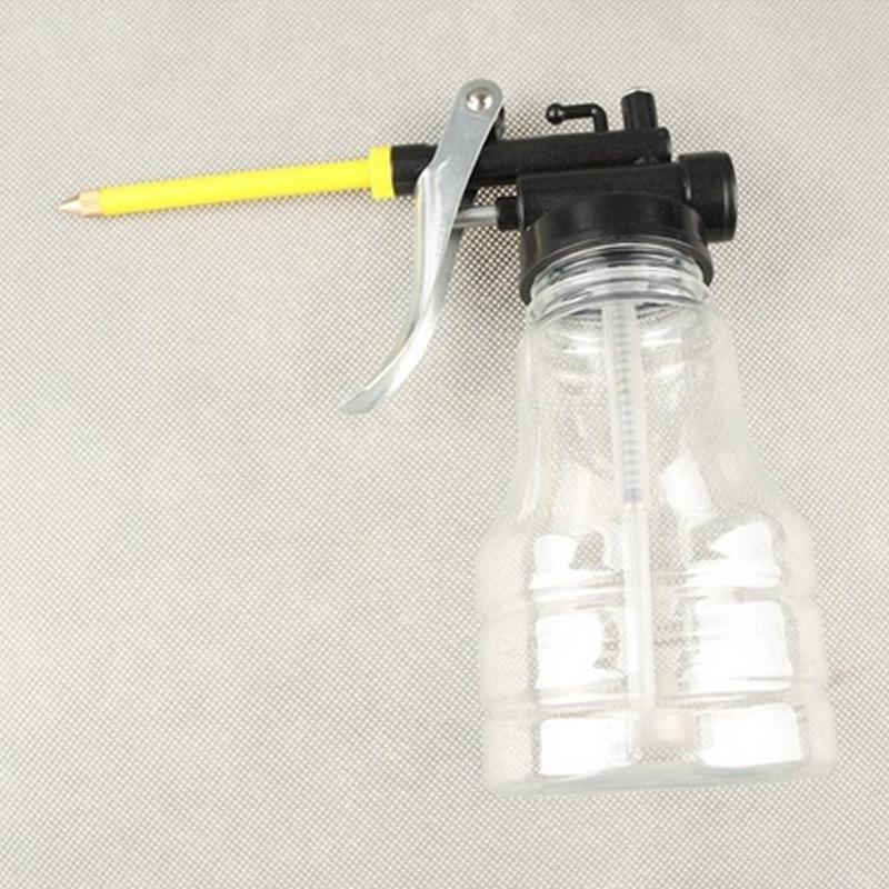 Nuovo 250ML trasparente ad alta pressione pompa olio di lubrificazione Oiler Can Plastic Machine Oiler Grasso Olio Pot C66