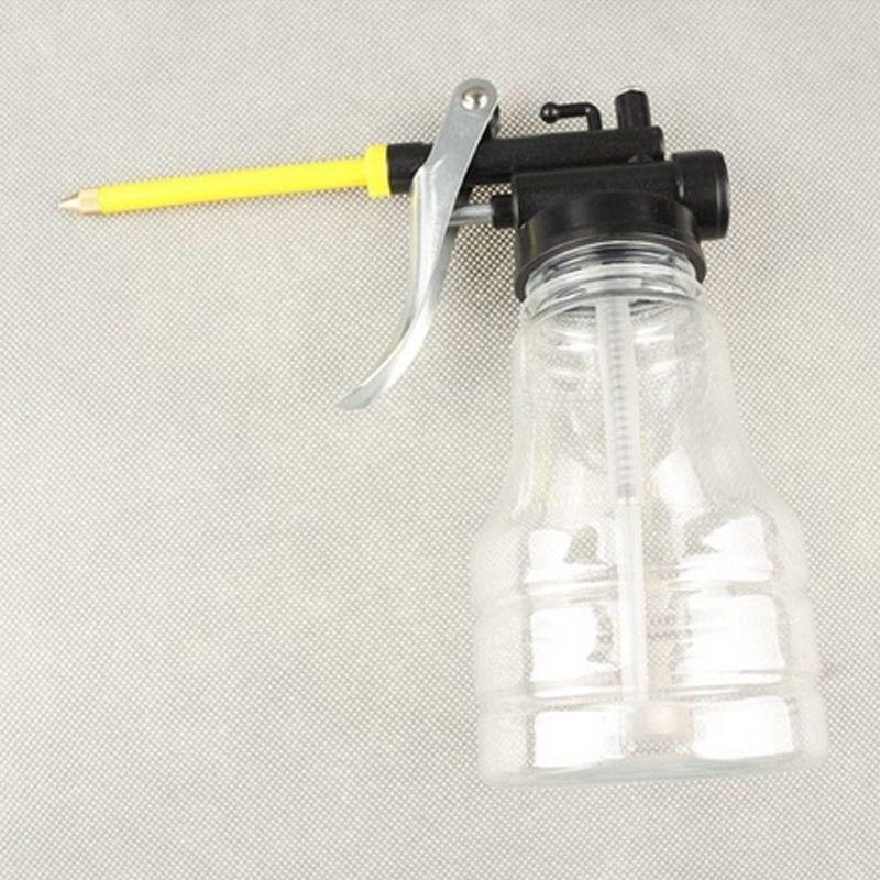 New 250ML transparente de alta pressão da bomba Oiler Lubrificação Oil Can Plastic Machine Oiler Graxa Óleo Pot C66