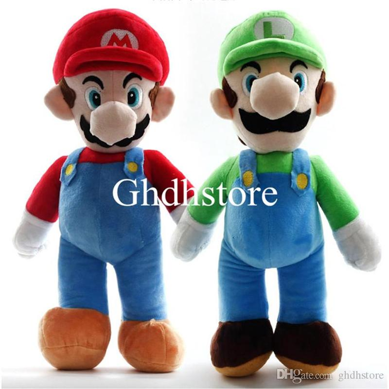 "Hot New 2 Styles 14"" 35CM Super Mario Bros Standing Mario Luigi Plush Doll Anime Collectible Stuffed Dolls Kid's Gifts Soft Toys"