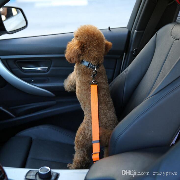 Ajustável assento cão Safety Car Belt Nylon Cachorrinho chumbo assento Leash Harness Veículo Cinto de segurança 7 Cor YSY387-L