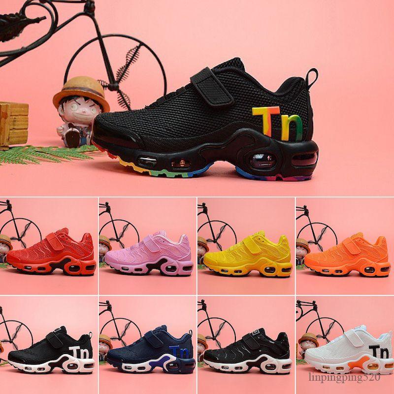 Nike Air Max MERCURIAL TN 2020 новорожденных Runners детей Кроссовки Полезность Черный Мальчик девочка малышей Молодежные тренеры Дизайнерские Детские кроссовки