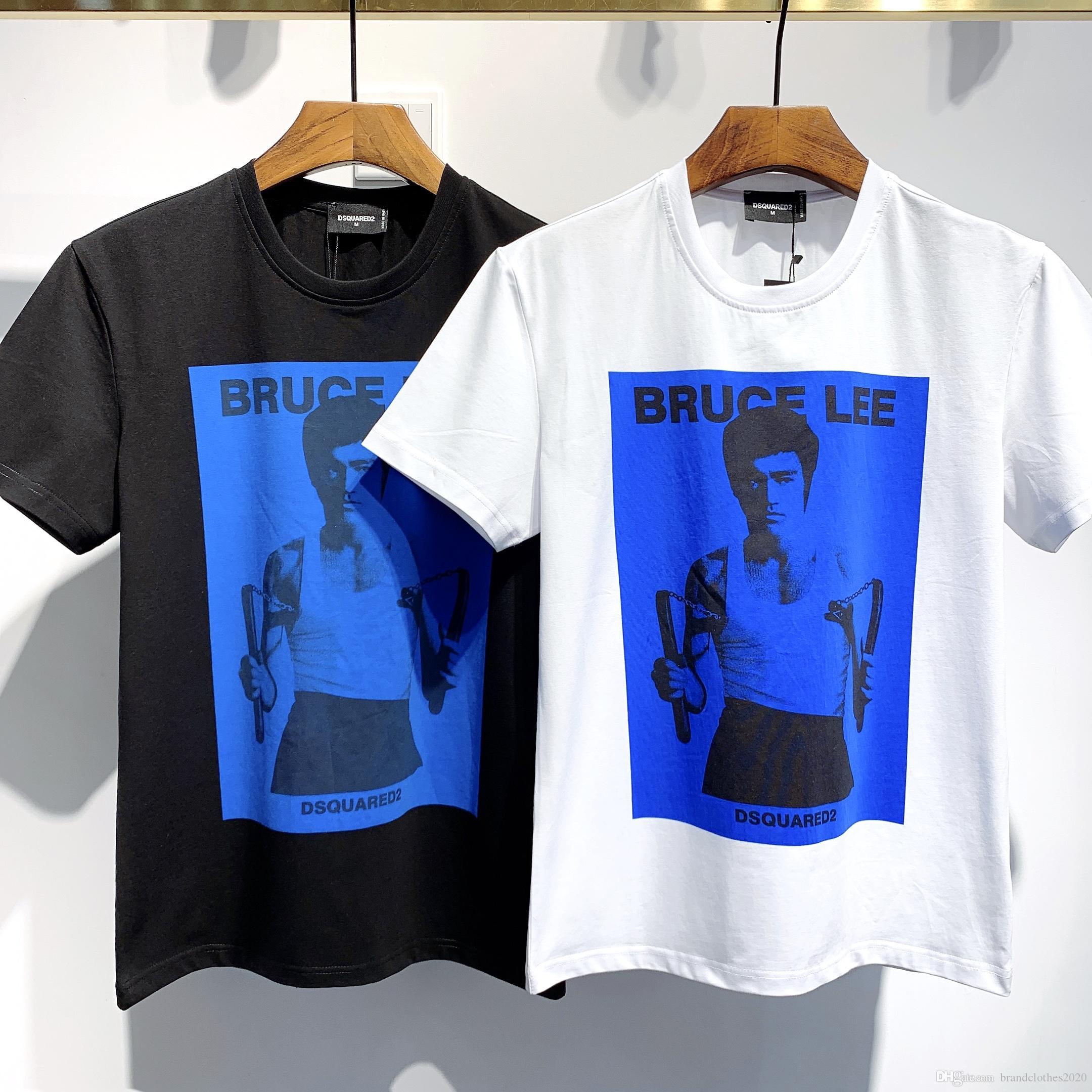 Высокое качество летняя мода дизайнер значок футболки #026 Европейский D2 Off роскошные мужские женские рубашки белый с коротким рукавом хлопок печати тройники Медуза