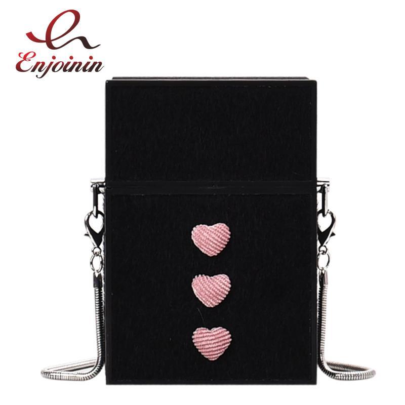 6 cores da pele do falso Design Festa Moda Mulheres Box Mini Shoulder Bag Handbag Clutch Bag Ladies Cadeia Bolsa Crossbody Totes