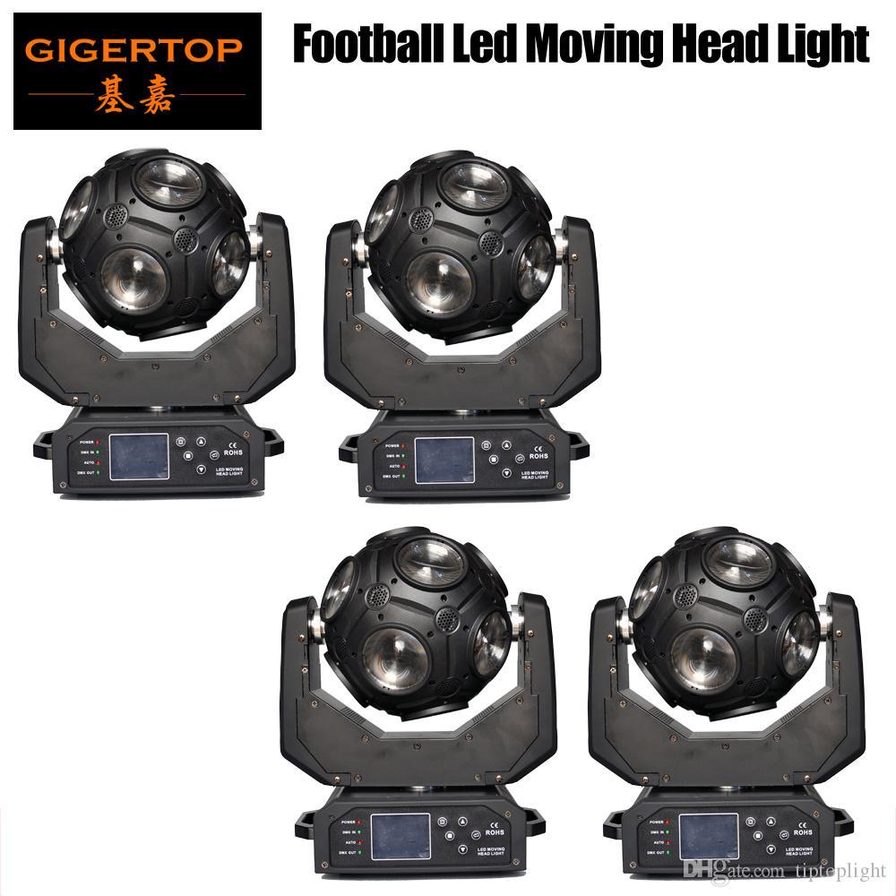 Tiptop 4pcs 12x20w RGBW 4in1 LED 축구 이동 헤드 라이트 그레이트 쇼 효과 DJ 디스코 나이트 클럽 파티 빛 DMX 512 21CH