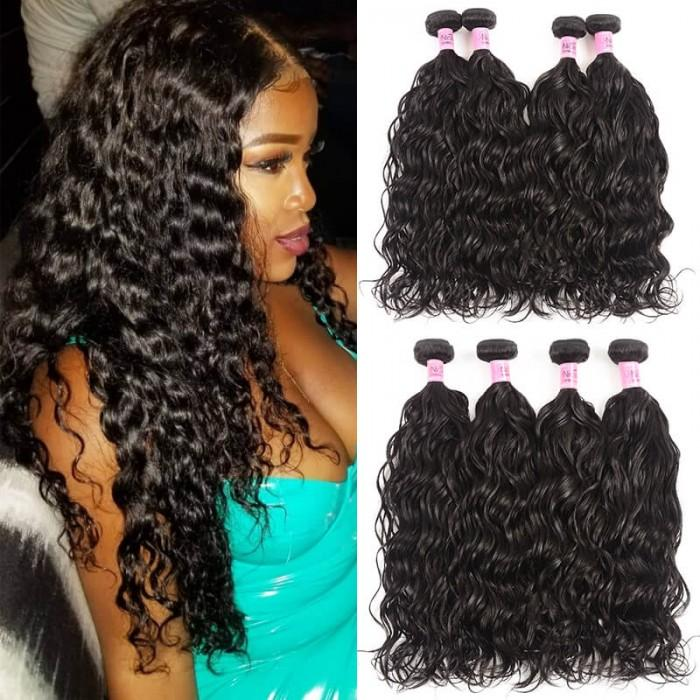 4 bundles unice virgin hair natural wave with lace closure curly style 100% virgin brazilian human hair lace