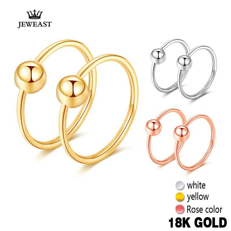 Ragazza regalo 18k orecchini a cerchio perline rotondo classico elegante semplice Trendy Squisito Orecchino ad anello Donne Yellow Rose White Hot CJ191203