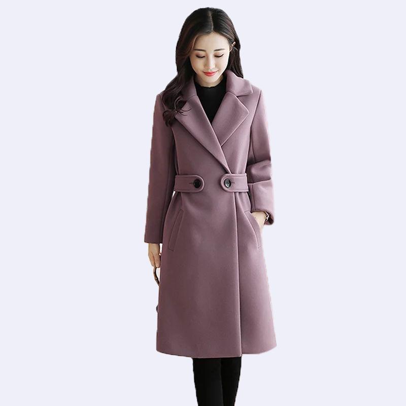 2019 الخريف والشتاء الجديدة ضئيلة طويلة النساء معطف الصوف زائد القطن قميص سميك الإناث زائد حجم 4xl الصوفية سترة المرأة