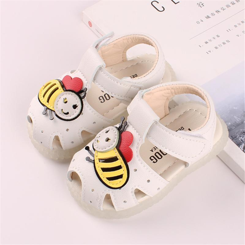 2020 Baby Sandals Girls Baby Summer Shoes Non-slip Soft Bottom Girl Princess Shoes Bow Flowers Kids Sandal Toddler Leather