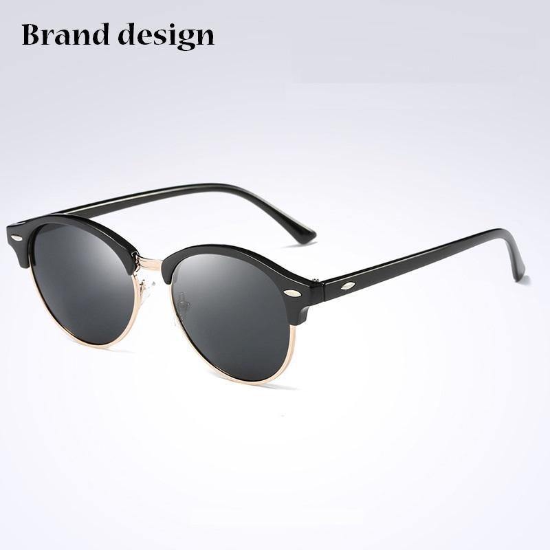 Классические мужские солнцезащитные очки Женщины Brand Designer 2020 ретро Урожай Солнцезащитные очки для женщин Мужчины Мужчины Леди Женщины Sunglass Зеркало