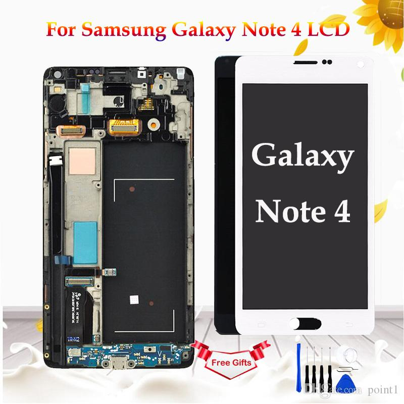 AMOLED For Samsung Galaxy Note 4 N910 N910F N910A Display Touch Screen Digitizer Assembly For Samsung Note 4 N910 LCD Screen