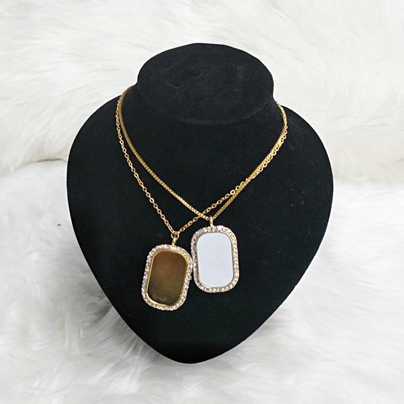 50PCS / Lot شحن مجاني التسامي فارغة البيضاوي الشكل قلادة التسامي مجوهرات البيضاوي قلادة على شكل نماذج من هدايا دعائية مخصص