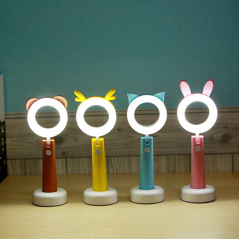 LED Gece Işıkları USB Şarj Masası Lambaları Yatak Odası Çalışma LED Gece Lambası Karikatür Masa Lambası Çocuk Hediye Için