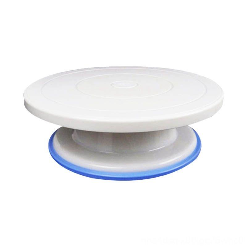 11 inch Cake Bakeware Kitchen, Dining & Bar Stand Revolving Cake Decorating Turntable with Rubber Ring White