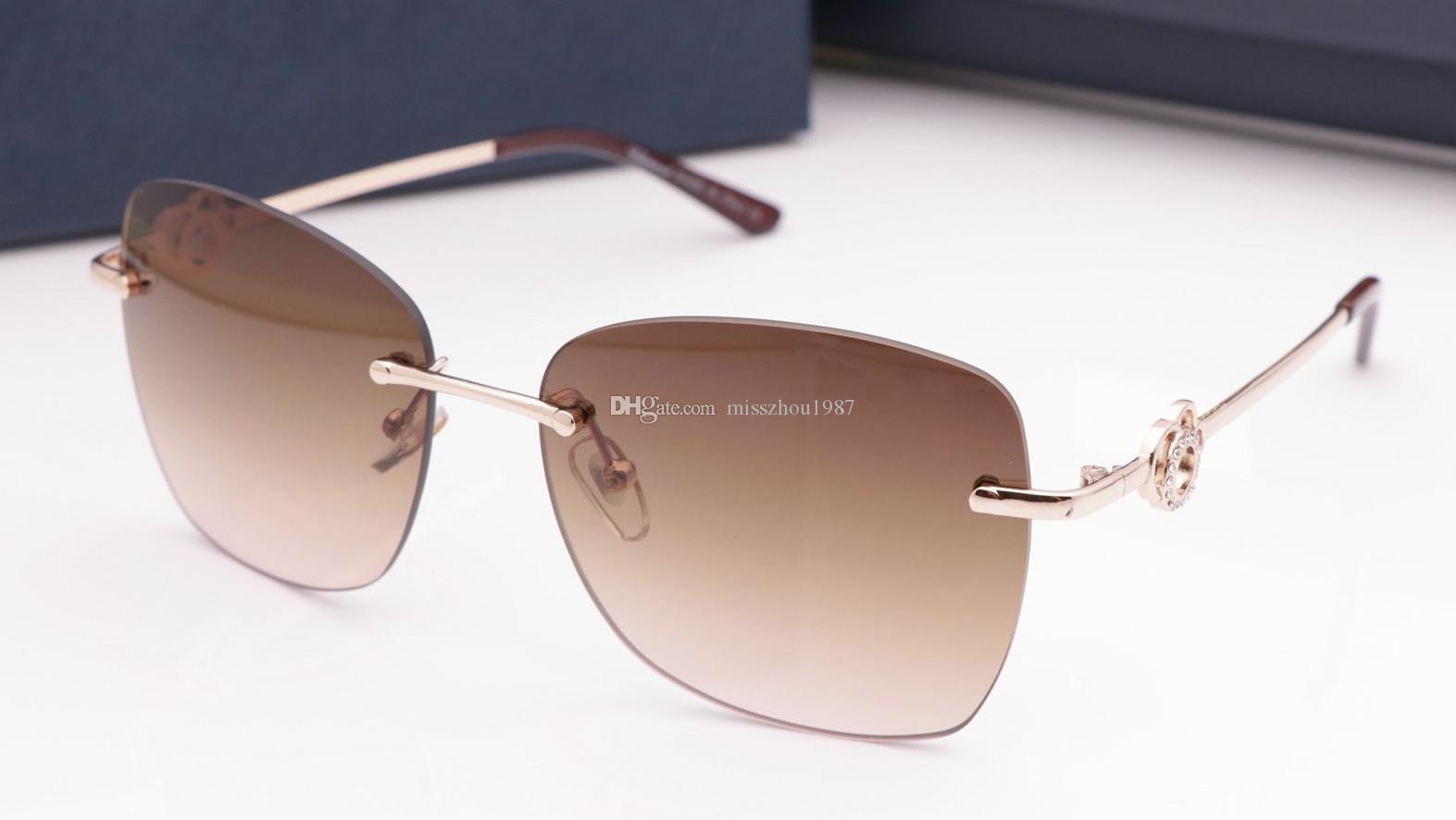 Lujo 24 gafas de sol para mujer de marca popular del diseñador gafas de sol de calidad superior encantador de la manera gafas de sol de protección UV viene con el paquete
