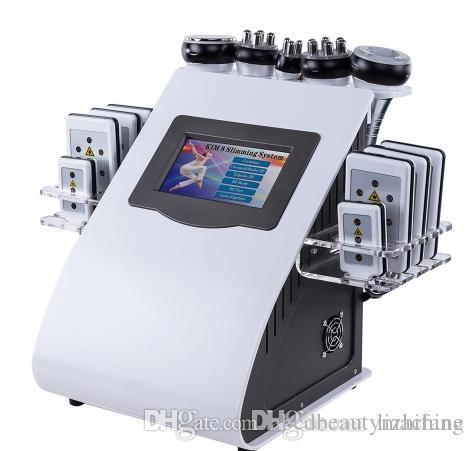 Novo Hot 6 em 1 Máquina de Frequência de Vácuo Cavitação para SPA Fast 8 Pads Lipo Laser Slimming Machine