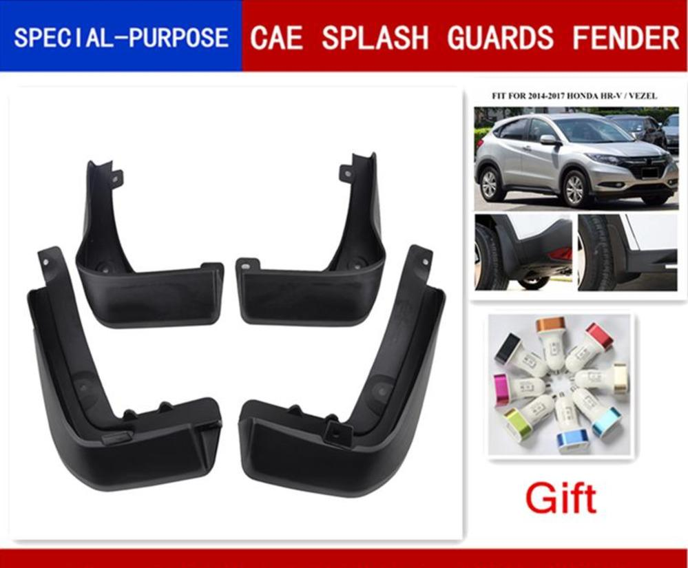 4PCS Mud Flaps Mudguards Splash Guards Black New For 2015 2016 HONDA HR-V VEZEL