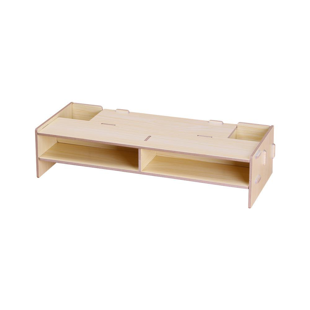 46 Wooden Desk Organizer Monitor Stand Riser Computer Desk