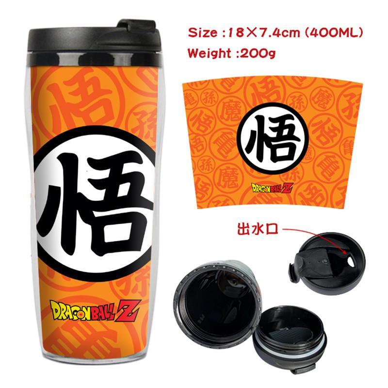 Z 손오공 찻잔 커피 컵 공간 컵 플라스틱 물 병 소년 소녀 학교 용품 다시 학교 선물 400 미리리터