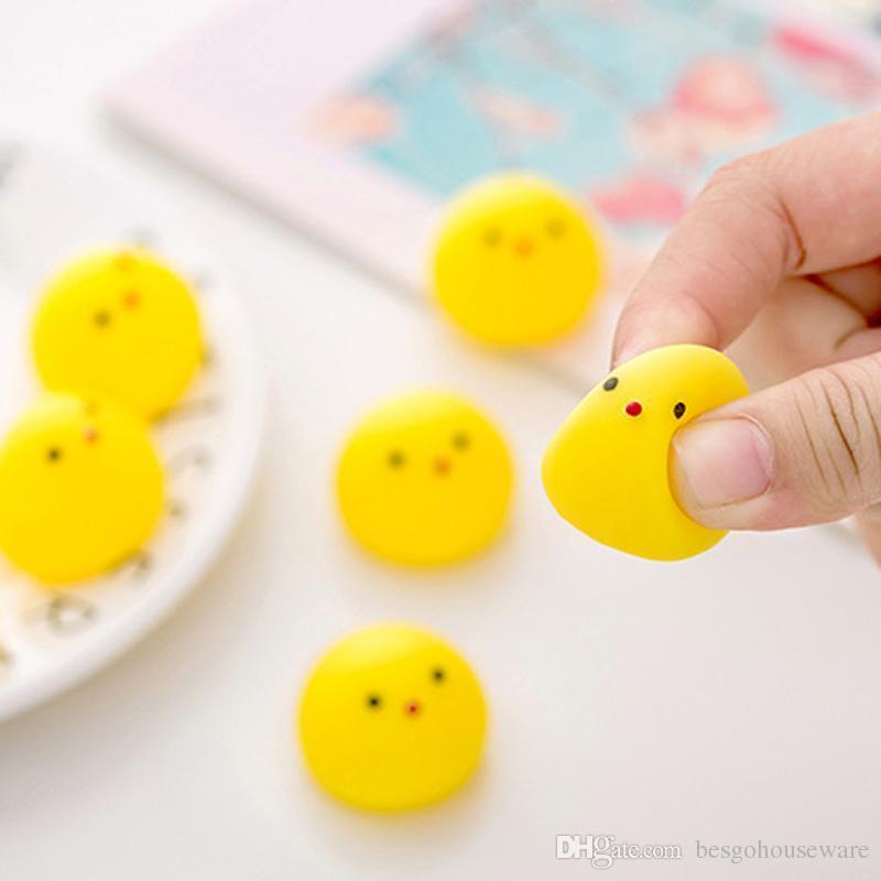 Снижение давления Круглые желтые шары Дети Взрослый Симпатичные Антистрессовая Игрушка Бал Смешные мини игрушки Printed Duck декомпрессионной Мячи BH1683 такой анкеты