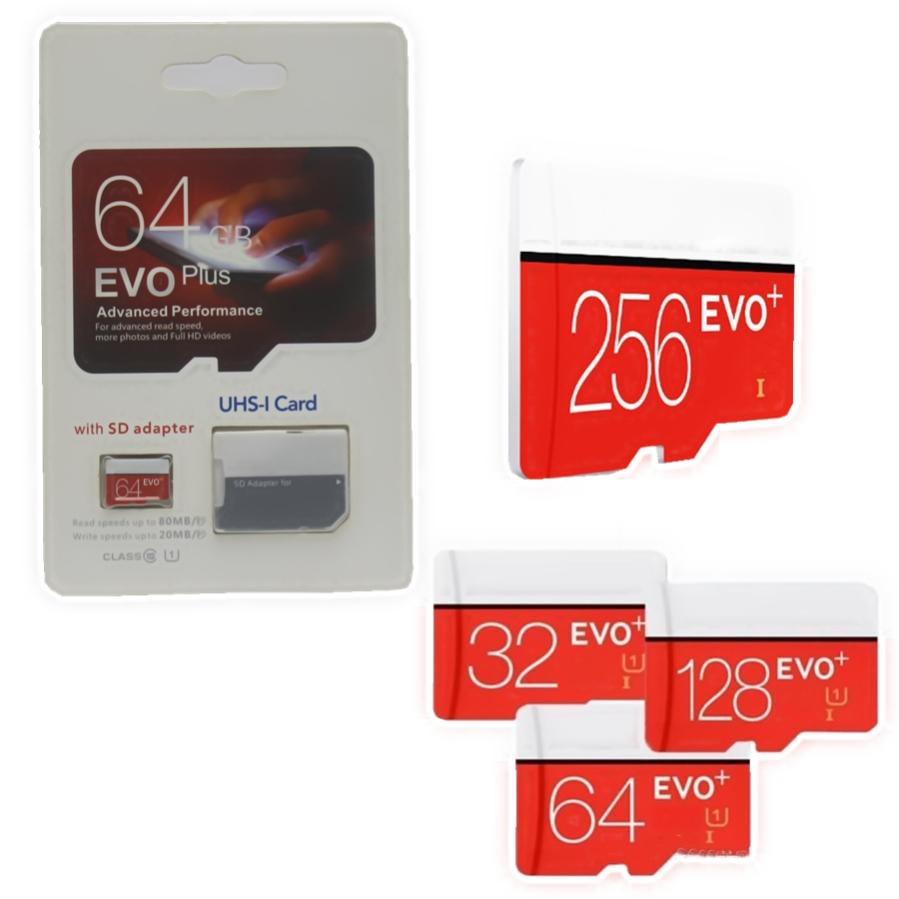 2019 vendita calda più venduti popolare 256 GB 128 GB 64 GB 32 GB EVO PLUS microSDXC Micro SD Y1 UHS-I Class10 Mobile Memory Card