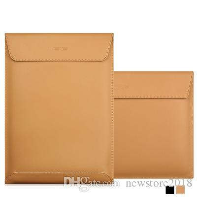 Матовый Магнитный пряжка PU Laptop Sleeve сумка для Xiaomi Macbook Pro 13 Case Air 12 Retina 15INCHES сенсорного Бара Женщина Мужчины Обложки