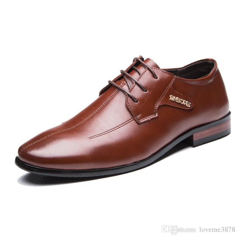 Fashion New Genuine Leather Men Dress Shoes, Business Leather Men Shoes, Casual Design Mens Flats, Men Oxfords