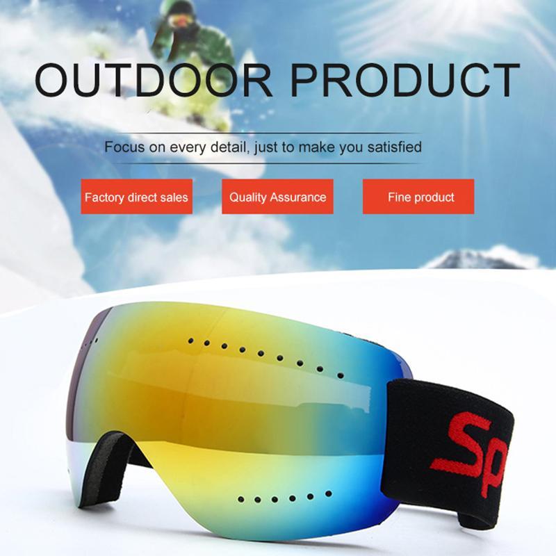 Radfahren Brillen Männer und Frauen Klettern Schneebrille Motorrad Cross-Country Goggles Großer Spiegel Ski-Antifogging-Glas