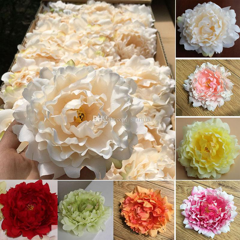 Artificial Flowers Silk Peony Flower Heads Wedding Party Decoration Supplies Simulation Fake Flower Head Home Decorations 11 Color WX-C03
