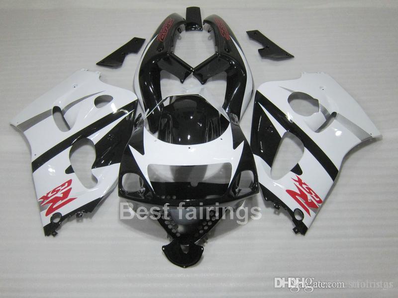ZXMOTOR Hot sale fairing kit for SUZUKI GSXR600 GSXR750 SRAD 1996-2000 white black GSXR 600 750 96 97 98 99 00 fairings GF33