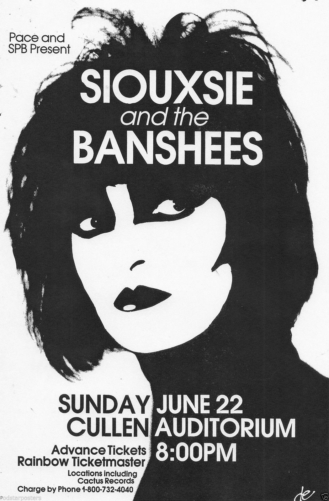 Siouxsie And The Banshees Music Room Wall Art Silk Poster