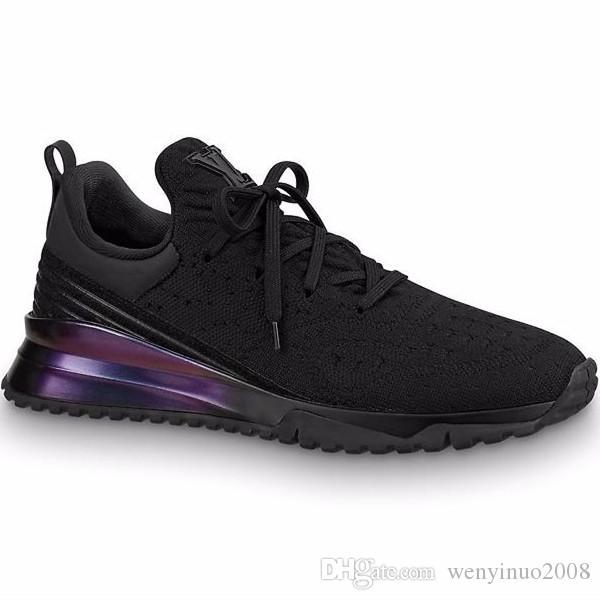 NUEVOS hombres de marca Cinta de punto con cordones Zapatilla de deporte Diseñador Mujeres Efecto brillante Suela de goma Deportes Zapatos respirables