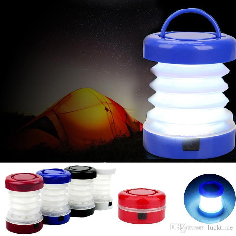 Camping Lantern LED Hiking Night Light Lamp Collapsable Flashlight Portable Scalable Tent Light Lamp Outdoor Bivouac Folded Lantern