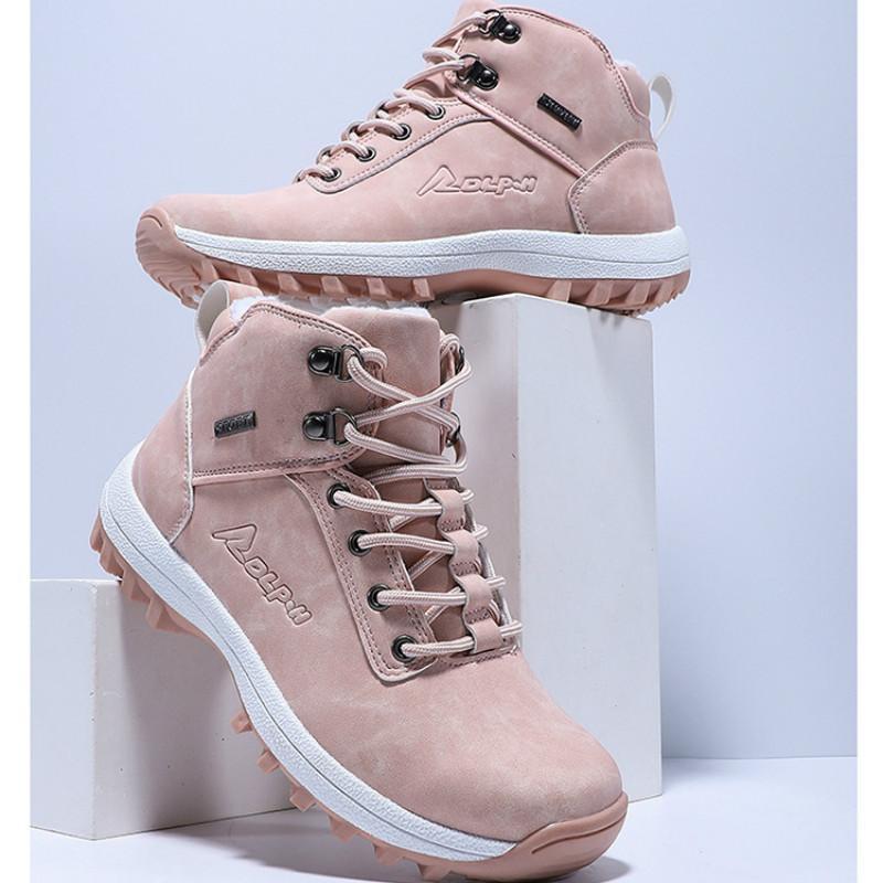 Winter New Mens Womens водонепроницаемого высоких ботинок хлопок Mens