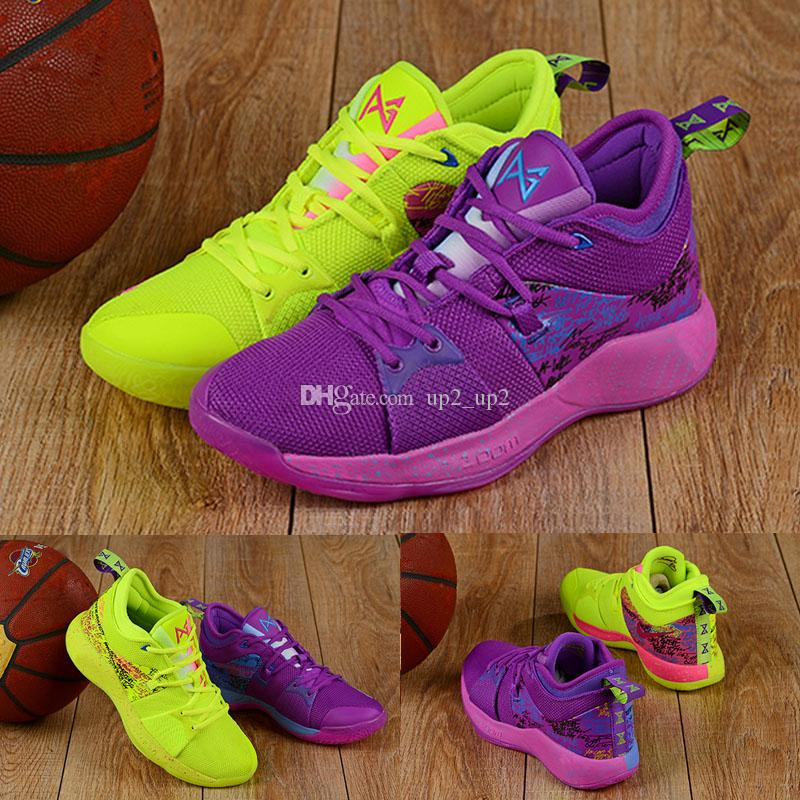 2019 New Athletic PG 2 Confetti What The Basketball Shoes Paul George Sneakers shoes Size 40-46