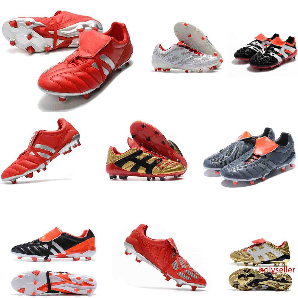 Para hombre de alta del tobillo Botas de Fútbol Juvenil PREDATOR MANIA 18 + x Pogba FG DB Acelerador de zapatos de fútbol de los niños PureControl Purechaos Tacos de fútbol