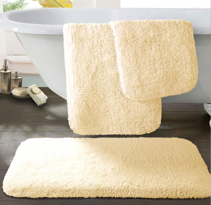 Bath rug reusable hotel supply water absorbent soft microfiber shaggy bathroom mat machine washable bathroom rug for hotel bathroom