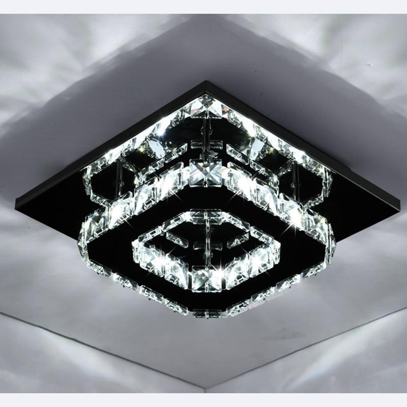 ساحة كريستال ضوء السقف الحديثة LED 20CM مصباح سقف مدخل لقاعة الرواق المعيشة غرف النوم الرئيسية الإضاءة AL064