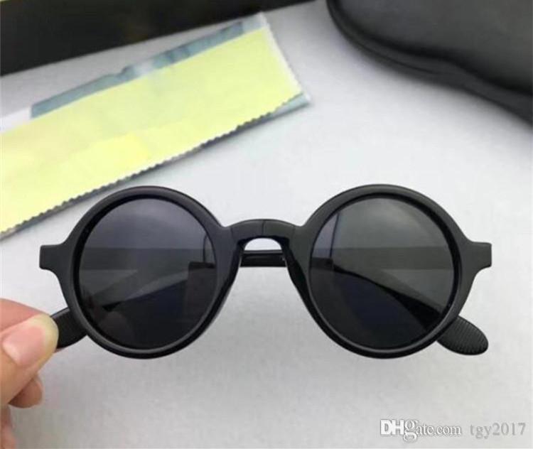 Depp Yıldız tarzı Retro Keten Yuvarlak Polarize Güneş Gözlüğü MS Boyutları Fashional Unisex Güneş Gözlükleri Saf-Tahta Fullkets Kılıf
