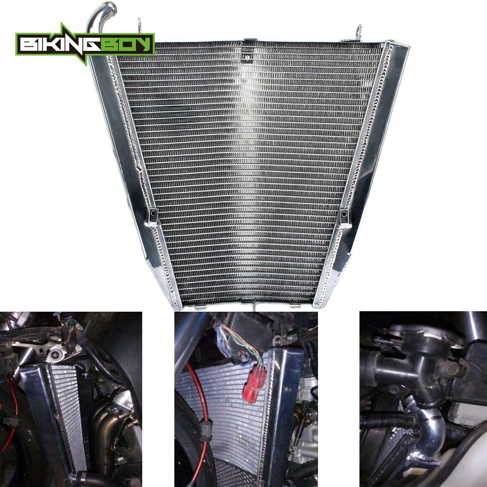BIKINGBOY Aluminium Engine Water Cooling Radiator Cooler For CBR 1000 RR Fireblade RR4 RR5 2004 2005 OEM 19010MELD01