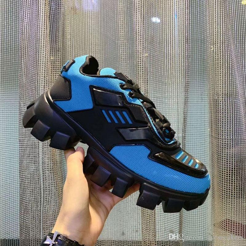 Beste Qualität Herren-Designer-Schuhe Cloudbust Donner Knit-Turnschuh-Frauen-beiläufige Schuh-Weiß-Schwarz-Leder-Turnschuh-flache Drei Vintage-Luxus-Schuh