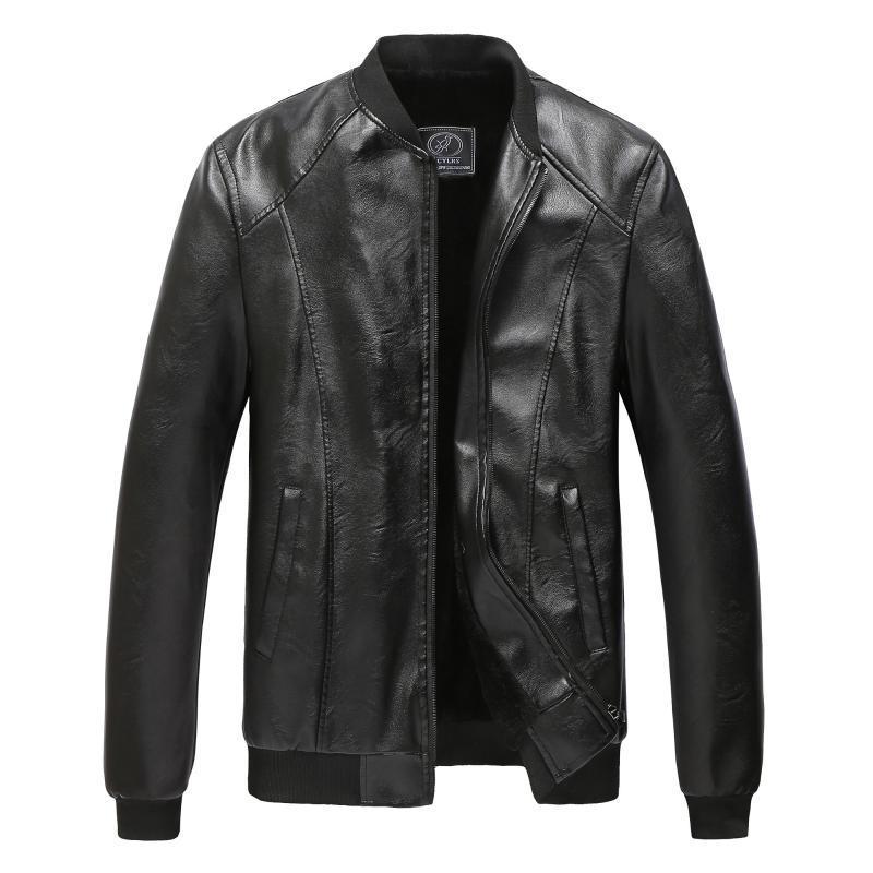 Negro suave clásico bombardero chaqueta de cuero de los hombres Streetwear ropa 2020 resorte de la capa de los hombres de la chaqueta de otoño Veste Homme para hombre del béisbol