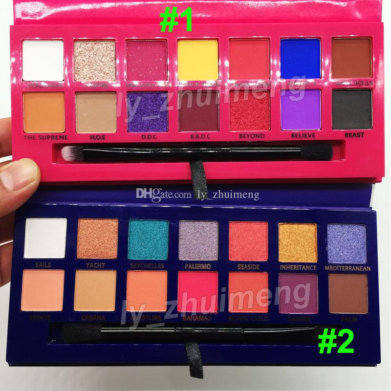 Makeup Alyssa Edwards eye shadow palette Riviera Eyeshadow 14 color with brush beauty eye shadow shimmer matte palette DHL free shipping