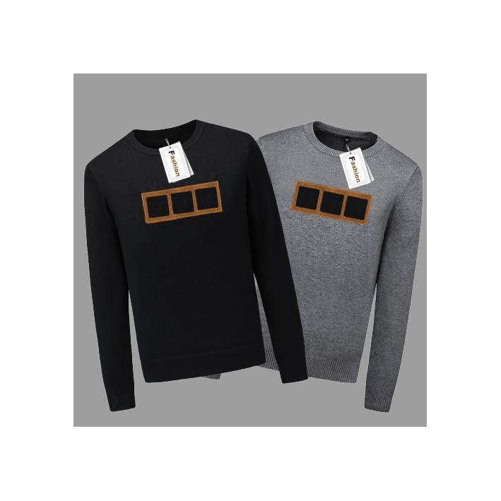 Erkek Tasarımcı Kazaklar Lüks Mektupları Nakış Kazaklar Moda Baskı Erkek Giyim Toptan 2 Renkler Boyut M-3XL Bahar New.S00 için