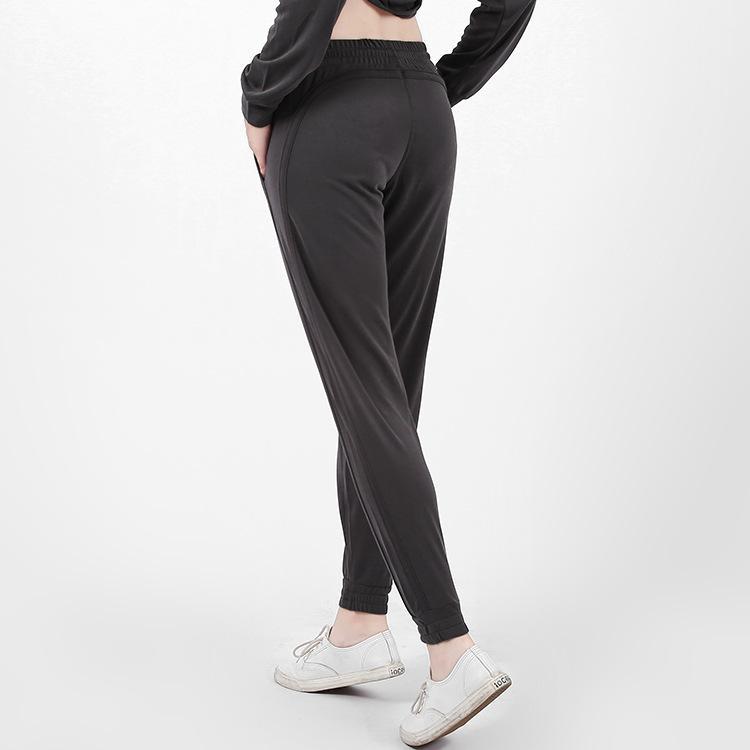 Feminino solta respirável feixe Pé Yoga Suit são versáteis Sports Correndo Harlan Pants