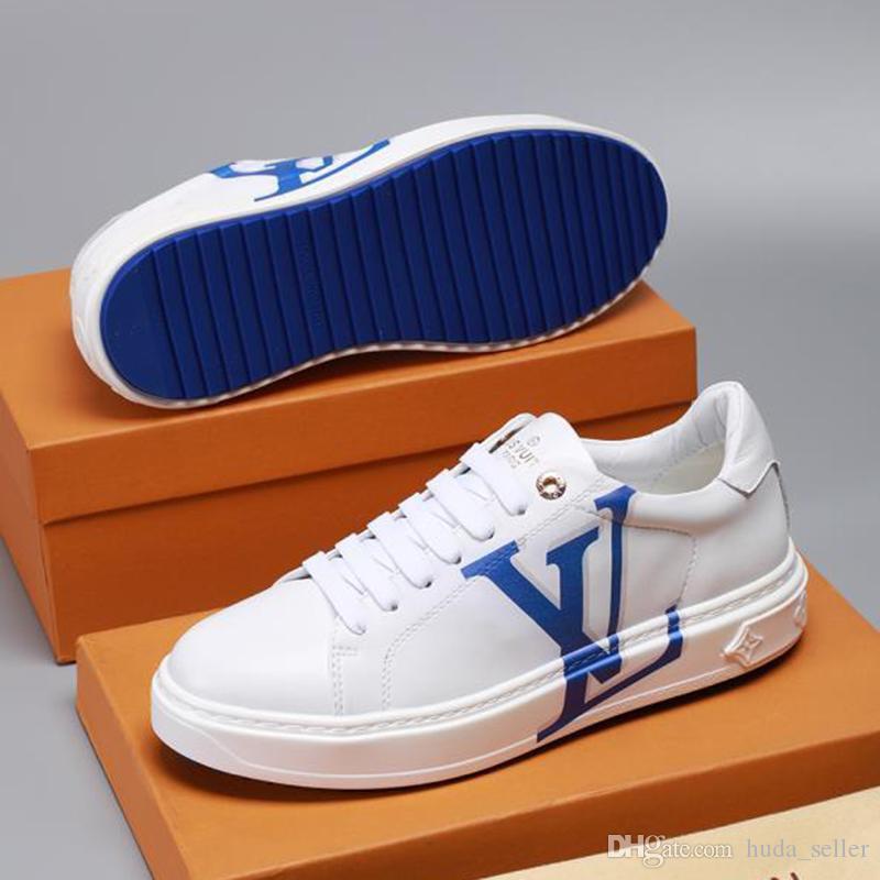 Modemarken Herrenschuhe Qualitäts-Frühling und Sommer-Breathable Fußbekleidungen Vintage-Low Top Lace-up Herren Schuhe Bequeme Mode Turnschuhe